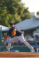 Salem Red Sox pitcher Roniel Raundes (17) on the mound during a game against the Myrtle Beach Pelicans at Ticketreturn.com Field at Pelicans Ballpark on June 8, 2018 in Myrtle Beach, South Carolina. Myrtle Beach defeated Salem 5-4. (Robert Gurganus/Four Seam Images)