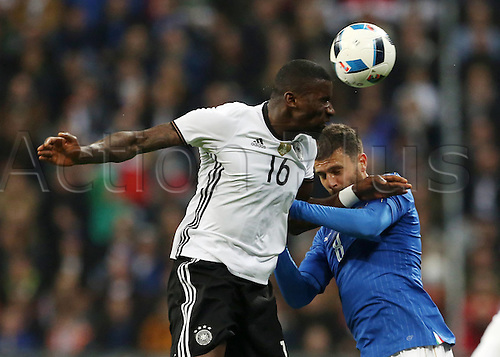 29.03.2016. Munich, Germany. International soccer match between Germany and Italy, at the Allianz Arena in Munich.  Antonio Rudiger, Thiago Motta