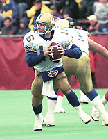 Matt Dunigan Winnipeg Blue Bombers quarterback. Copyright photograph Scott Grant