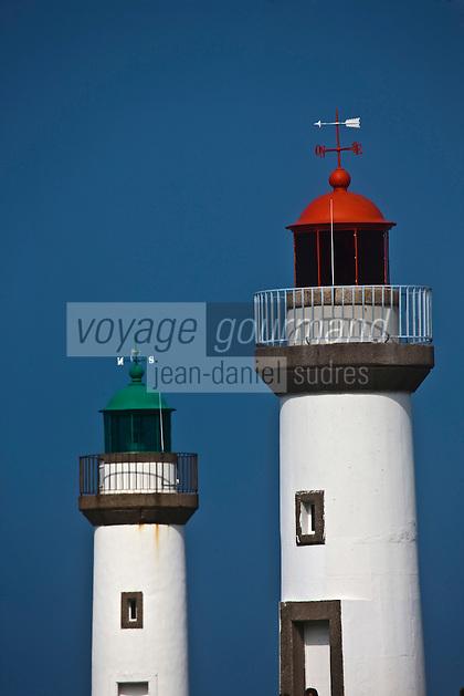 Europe/France/Bretagne/56/Morbihan/ Belle-Ile-en-Mer/Le Palais: les phares qui balisent l'entrée du port