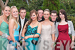 Celebrating the Tarbert Comprehensive School Debs in Kirby's Lanterns Hotel, Tarbert, on Friday night were, in front from left, Clodagh Allen, Tarbert, Caoimhe Lynch, Ballybunion, Aoife Reidy, Glin, Kerri-Jo McEntegart, Athlone, and Bridget Carmody, Beale. Back from left, Aengus Barry, Moyvane, Cian O'Connor, Ballybunion, and Stephen Mullane, Tarbert.