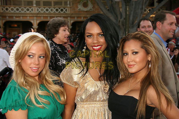 "SABRINA BRYAN, KIELY WILLIAMS & ADRIENNE BAILON - THE CHEETAH GIRLS .""Pirates Of The Caribbean: At World's End"" World Premiere held at Disneyland, Anaheim, California, USA,.May 19th, 007.3 headshot portrait gold green black.CAP/ADM/RE.©Russ Elliot/AdMedia/Capital Pictures"