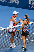 ASHLEIGH BARTY and ALEKSANDRA KRUNIC <br /> <br /> 2017 BRISBANE INTERNATIONAL, PAT RAFTER ARENA, BRISBANE TENNIS CENTRE, BRISBANE, QUEENSLAND, AUSTRALIA<br /> <br /> &copy; TENNIS PHOTO NETWORK