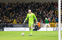 4th January 2020; Molineux Stadium, Wolverhampton, West Midlands, England; English FA Cup Football, Wolverhampton Wanderers versus Manchester United; Wolverhampton Wanderers Goalkeeper John Ruddy with the ball at his feet - Strictly Editorial Use Only. No use with unauthorized audio, video, data, fixture lists, club/league logos or 'live' services. Online in-match use limited to 120 images, no video emulation. No use in betting, games or single club/league/player publications