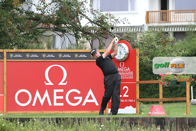 Miguel Angel Jimenez (ESP) on Day 1 of the Omega European Masters 2012, Golf Club Crans-Sur-Sierre, Crans Montana, Switzerland, 30/8/12...(Photo Jenny Matthews/www.golffile.ie)