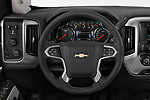 Car pictures of steering wheel view of a 2018 Chevrolet Silverado 2500HD LT 4WD Crew Cab 4 Door Pick Up