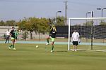 DENTON, TX - OCTOBER 20: North Texas Mean Green soccer vs Marshall on October 20, 2019 in Denton, Texas.