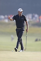 Justin Rose (ENG) reacts to missing a putt on the 14th hole during the 118th U.S. Open Championship at Shinnecock Hills Golf Club in Southampton, NY, USA. 17th June 2018.<br /> Picture: Golffile | Brian Spurlock<br /> <br /> <br /> All photo usage must carry mandatory copyright credit (&copy; Golffile | Brian Spurlock)