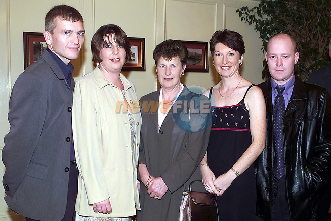 Roy & Catherine Guinn Belfast, mary Murray Cherrymount, Frances & Alan Bagnall Castlemanor at the CF dinner in the West Court Hotel.Pic Fran Caffrey Newsfile