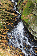 Wilde Brook in Chesterfield Gorge Natural Area of Chesterfield, New Hampshire USA during the autumn months.