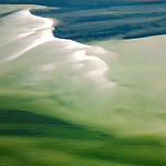 Sandbar on Chesapeake Bay Delaware coast helicopter aerial