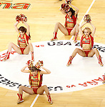 Spain's cheerleaders during friendly match.July 24,2012. (ALTERPHOTOS/Acero)