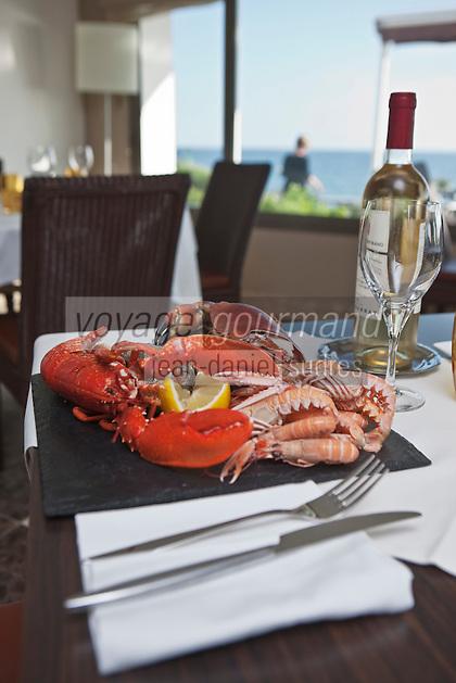 Europe/France/Bretagne/56/Morbihan/Larmor-Plage: Restaurant: Les Mouettes, Anse de Kerguelen