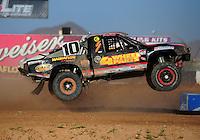 Apr 16, 2011; Surprise, AZ USA; LOORRS driver Greg Adler (10) during round 3 at Speedworld Off Road Park. Mandatory Credit: Mark J. Rebilas-