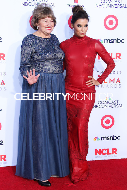 PASADENA, CA - SEPTEMBER 27: Actress Eva Longoria and her mother Ella Eva Mireles arrive at the 2013 NCLR ALMA Awards held at Pasadena Civic Auditorium on September 27, 2013 in Pasadena, California. (Photo by Xavier Collin/Celebrity Monitor)