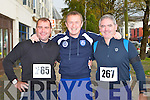 RUN: Enjoying the Mini-Marathon in aid of the Kerry Careers Association at the Brandon hotel, Tralee on Sunday l-r: John Nix, Oliver Molloy and Mike Griffin.