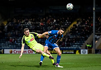 Bolton Wanderers' Ethan Hamilton competing with Rochdale's Aaron Wilbraham (right) <br /> <br /> Photographer Andrew Kearns/CameraSport<br /> <br /> The EFL Sky Bet League One - Rochdale v Bolton Wanderers - Saturday 11th January 2020 - Spotland Stadium - Rochdale<br /> <br /> World Copyright © 2020 CameraSport. All rights reserved. 43 Linden Ave. Countesthorpe. Leicester. England. LE8 5PG - Tel: +44 (0) 116 277 4147 - admin@camerasport.com - www.camerasport.com