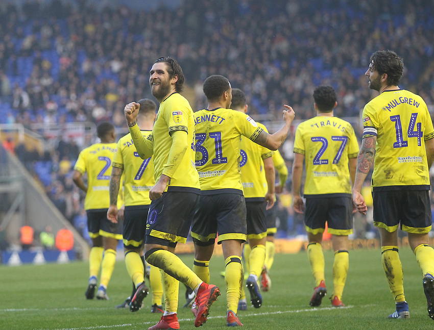Blackburn Rovers Danny Graham celebrates scoring his sides second goal <br /> <br /> Photographer Mick Walker/CameraSport<br /> <br /> The EFL Sky Bet Championship - Birmingham City v Blackburn Rovers - Saturday 23rd February 2019 - St Andrew's - Birmingham<br /> <br /> World Copyright © 2019 CameraSport. All rights reserved. 43 Linden Ave. Countesthorpe. Leicester. England. LE8 5PG - Tel: +44 (0) 116 277 4147 - admin@camerasport.com - www.camerasport.com