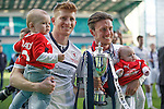 Jason Thomson and Joe Cardle with cup