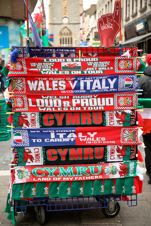 A general view ahead of the Wales v Italy game at  Principality Stadium, Cardiff <br /> <br /> Photographer Simon King/CameraSport<br /> <br /> International Rugby Union - RBS 6 Nations Championships 2016 - Wales v Italy - Saturday 19th March 2016 - Principality Stadium, Cardiff <br /> <br /> &copy; CameraSport - 43 Linden Ave. Countesthorpe. Leicester. England. LE8 5PG - Tel: +44 (0) 116 277 4147 - admin@camerasport.com - www.camerasport.com