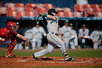 Dartmouth Big Green second baseman Sean Sullivan (4) bats during a game against the Bradley Braves on March 21, 2019 at Chain of Lakes Stadium in Winter Haven, Florida.  Bradley defeated Dartmouth 6-3.  (Mike Janes/Four Seam Images)