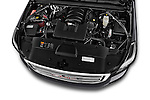 Car Stock 2015 GMC Yukon Xl Sle 5 Door Suv 2WD Engine high angle detail view