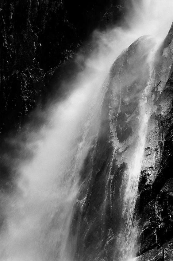 Yosmite Falls Detail NO. 1, Yosemite NP    35mm image on Ilford Delta 100 film