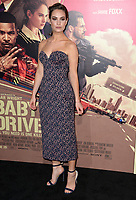 Lily James at the Los Angeles premiere for &quot;Baby Driver&quot; at the Ace Hotel Downtown. <br /> Los Angeles, USA 14 June  2017<br /> Picture: Paul Smith/Featureflash/SilverHub 0208 004 5359 sales@silverhubmedia.com