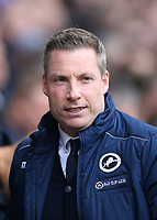17th March 2019, The Den, London, England; The Emirates FA Cup, quarter final, Millwall versus Brighton and Hove Albion; Millwall manager  Neil Harris
