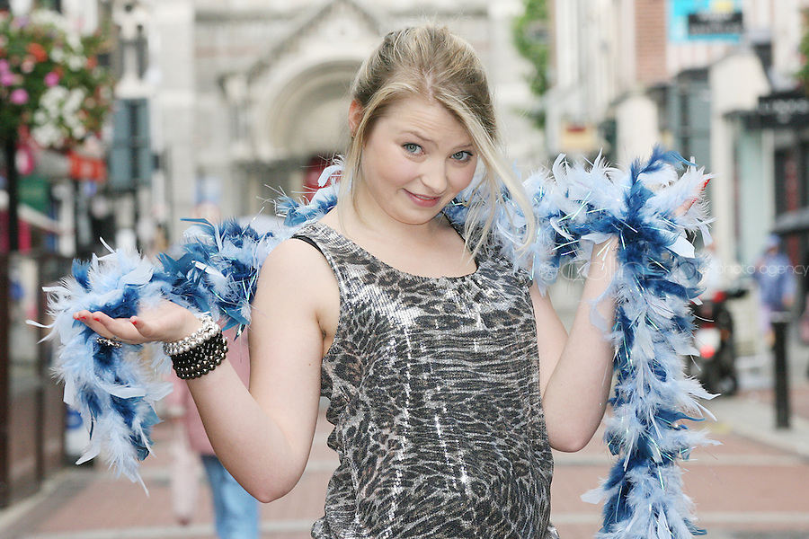 NO REPRO FEE 21/7/2010. Little Gem. Genevieve Hulme-Beaman cast of Little Gem is pictured in Dublin at the launch of Guna Nua's hit Little Gem set to sparkle in the Olympia Theatre for ten performances only. Hilda Fay makes her return as Lorraine, Anita Reeves continues in the role of Kay, and Genevieve Hulme-Beaman takes on the role of Amber. After sell-out seasons in New York, London and Paris and a sold-out 7-week run at Ireland's National Theatre, Gúna Nua is bringing its bittersweet comedy Little Gem back to Dublin for 10 shows only at The Olympia Theatre from August 26 to September 4, 2010. Love, sex, birth, death, dildos and salsa classes: Elaine Murphy's award winning Little Gem sees three generations of Dublin women on a wild and constantly surprising journey. Picture James Horan/Collins Photos