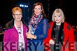 Kathleen Raggett, Brenda Litchfield and Mary McGreevy, pictured at the St. Vincent De Paul Fashion Show, at Ballyroe Heights Hotel, Tralee, on Thursday, November 23rd last.