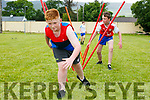 Enjoying the Fybough National School sports day at Keel GAA grounds on Thursday were DJ O'Mahony and Tadhg Evans