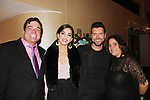 Dale Badway with Ana Villafane & Mauricio Martinez (stars of On Your Feet) & Gina at 30th Anniversary of the Jane Elissa Extravaganza to benefit The Jane Elissa Charitable Fund for Leukemia & Lymphoma Cancer, Broadway Cares & other charities on October 30. 2017 at the New York Marriott Marquis, New York, New York. (Photo by Sue Coflin/Max Photo)