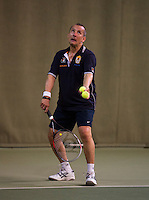 Hilversum, The Netherlands, 05.03.2014. NOVK ,National Indoor Veterans Championships of 2014, Ton Sie (NED)<br /> Photo:Tennisimages/Henk Koster
