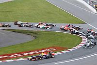 MONTREAL, CANADA, 09.06.2013 - F1 - GP DO CANADÁ - O piloto alemão Sebastian Vettel (a frente) da equipe Red Bull durante o Grande Premio de Montreal de Formula 1, no Canadá neste domingo, 09. (Foto: Pixathlon / Brazil Photo Press).