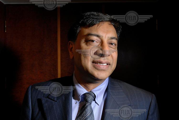 Lakshmi Mittal, owner of Mittal Steel, in his London office.