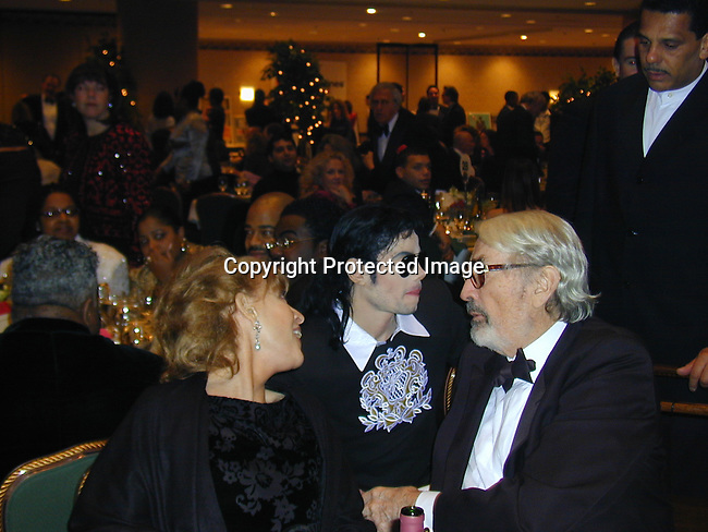Michael Jackson, Gregory Peck and wife<br />Whitney Houston's All-Star Gala for<br />American Cinema Foundation<br />Saturday, Dec 04, 1999<br />Photo by CelebrityVibe