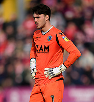 Macclesfield Town's Kieran O'Hara<br /> <br /> Photographer Chris Vaughan/CameraSport<br /> <br /> The EFL Sky Bet League Two - Lincoln City v Macclesfield Town - Saturday 30th March 2019 - Sincil Bank - Lincoln<br /> <br /> World Copyright © 2019 CameraSport. All rights reserved. 43 Linden Ave. Countesthorpe. Leicester. England. LE8 5PG - Tel: +44 (0) 116 277 4147 - admin@camerasport.com - www.camerasport.com