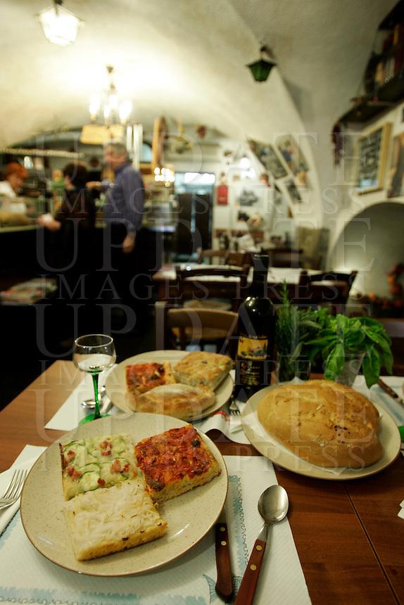 L'interno della Cantina Sanremese a Sanremo,<br /> Interior of La Cantina Sanremese in Sanremo.<br /> UPDATE IMAGES PRESS/Riccardo De Luca