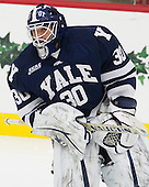 Patrick Spano (Yale - 30) - The visiting Yale University Bulldogs defeated the Harvard University Crimson 2-1 (EN) on Saturday, November 15, 2014, at Bright-Landry Hockey Center in Cambridge, Massachusetts.