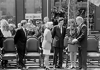 Montreal. CANADA -   May 7, 1992  File Photo -<br /> <br /> Jean Dore, Montreal Mayor , Robert Bourassa, Quebec Premier and Brian Mulroney, Canada Prime Minister attend the 350th anniversary of Montreal city<br /> <br /> File Photo : Agence Quebec Pressse - Pierre Roussel