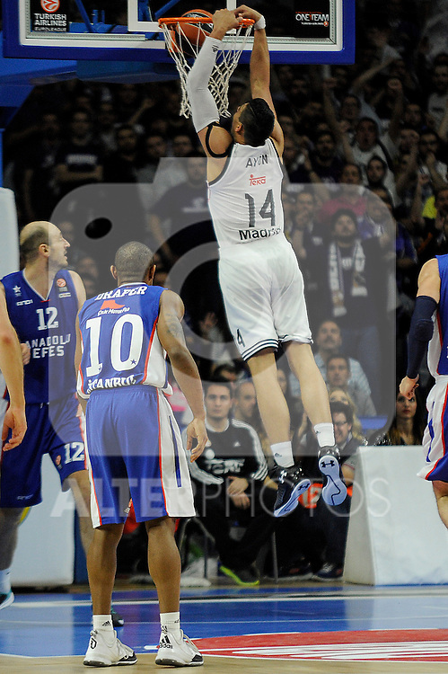 Real Madrid´s Gustavo Ayon during 2014-15 Euroleague Basketball Playoffs match between Real Madrid and Anadolu Efes at Palacio de los Deportes stadium in Madrid, Spain. April 15, 2015. (ALTERPHOTOS/Luis Fernandez)