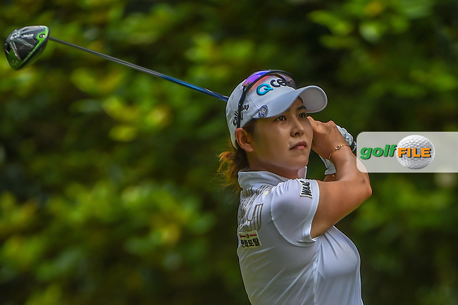 Jihyun Kim (KOR) watches her tee shot on 3 during round 4 of the U.S. Women's Open Championship, Shoal Creek Country Club, at Birmingham, Alabama, USA. 6/3/2018.<br /> Picture: Golffile | Ken Murray<br /> <br /> All photo usage must carry mandatory copyright credit (© Golffile | Ken Murray)