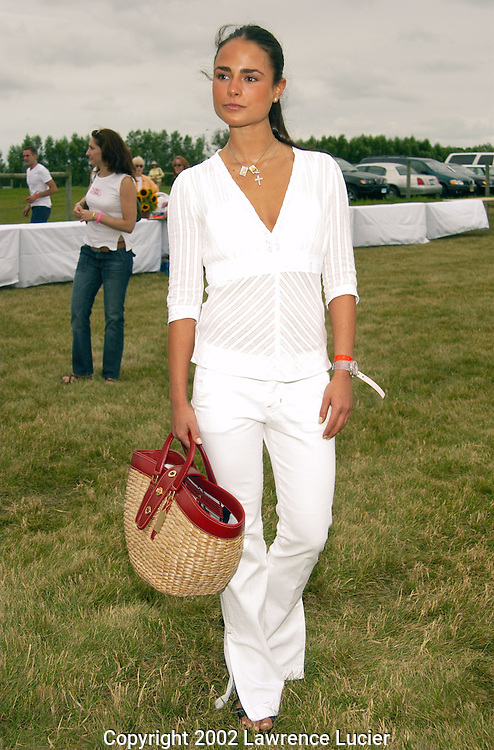 WATERMILL-JULY 27: Actress Jordana Brewster arrives at the fifth annual Super Saturday designer sale and benefit the Ovarian Cancer Research Fund July 27, 2002, at Nova's Ark in Watermill, NY.