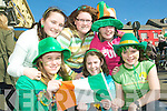 Guaranteed Irish: Front l-r were Caroline Buckley, REbecca Wilmott and Triona O'Donnell with back l-r Claudia Greaney, Michelle Collins and Anna Enright at the Listowel St Patrick's Day Parade on Tuesday.
