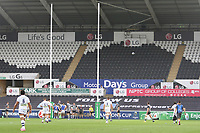Morgan Parra of Clermont kicks a conversion during the Champions Cup Round 1 match between Ospreys and Clermont at The Liberty Stadium, Swansea, Wales, UK. Sunday 15 October 2017