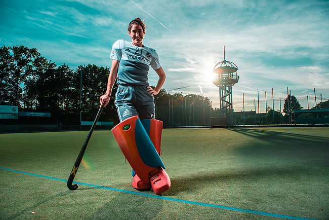 Mannheim, Germany, August 16: Photoshooting with goalkeeper Lisa Schneider of Mannheimer HC on August 16, 2019 at Mannheimer Hockeyclub in Mannheim, Germany. (Photo by Dirk Markgraf / www.265-images.com) ***
