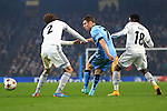James Milner of Manchester City flicks the ball through the Moscow defence - Manchester City vs. CSKA Moscow - UEFA Champions League - Etihad Stadium - Manchester - 05/11/2014 Pic Philip Oldham/Sportimage