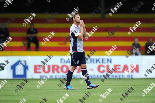 2012-08-01 / Voetbal / seizoen 2012-2013 / TSV Lyra / Michael Pollet..Foto: Mpics.be