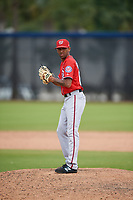 Washington Nationals pitcher Mariano Rivera III (66) during a Minor League Spring Training game against the Miami Marlins on March 28, 2018 at FITTEAM Ballpark of the Palm Beaches in West Palm Beach, Florida.  (Mike Janes/Four Seam Images)